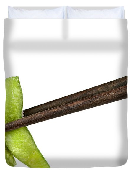 Soy Beans With Chopsticks Duvet Cover by Elena Elisseeva