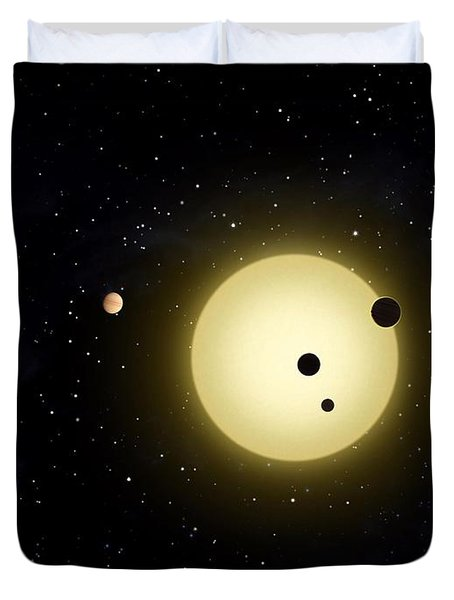 Space Kepler 11 Introduction Duvet Cover by Movie Poster Prints