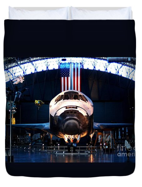 Space Shuttle Discovery Duvet Cover by Patti Whitten
