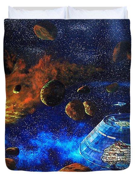 Spaceship Titanic Duvet Cover by Murphy Elliott
