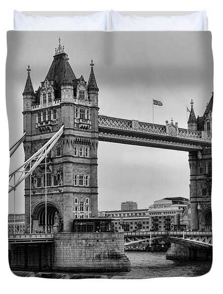Spanning the Thames Duvet Cover by Heather Applegate