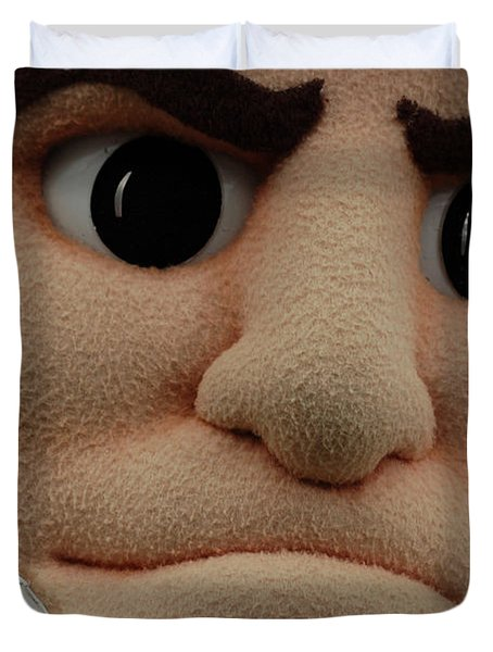 Sparty Face  Duvet Cover by John McGraw