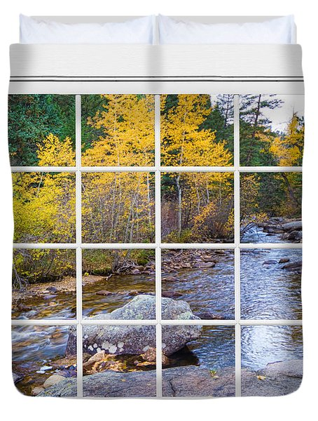 Special Place in the Woods Large White Picture Window View Duvet Cover by James BO  Insogna