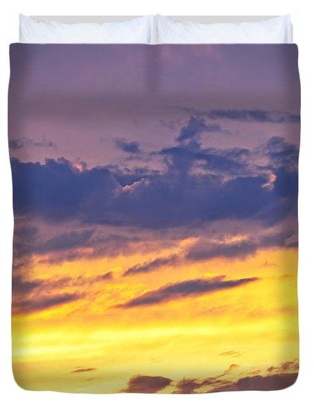 Spectacular sunset Duvet Cover by Elena Elisseeva