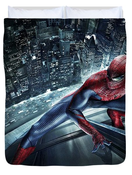 Spider Man 210 Duvet Cover by Movie Poster Prints