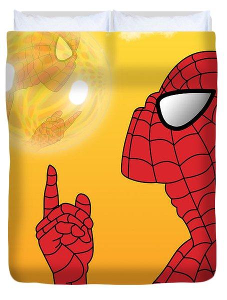 Spiderman 3 Duvet Cover by Mark Ashkenazi