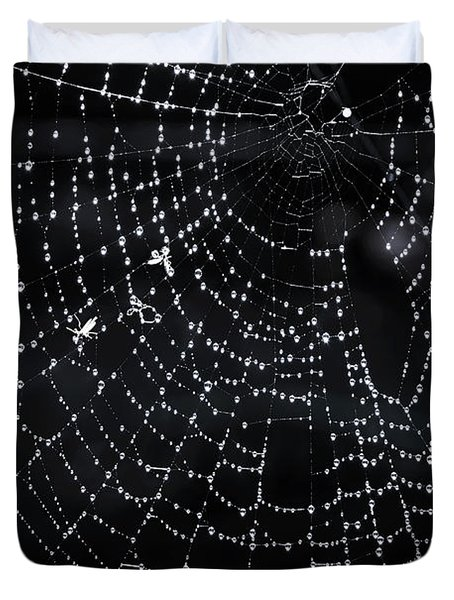Spiderweb Duvet Cover by Elena Elisseeva