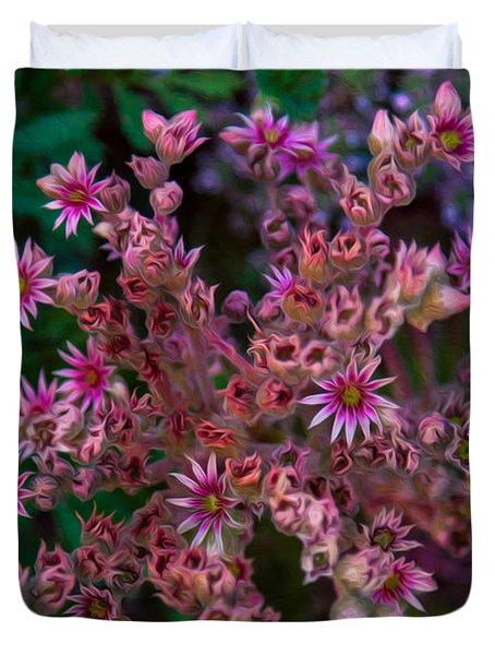 Spiky Flowers Duvet Cover by Omaste Witkowski