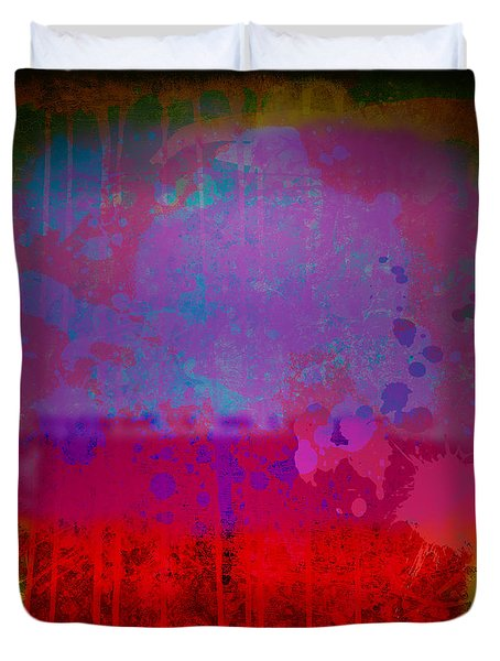 Spills And Drips Duvet Cover by Gary Grayson