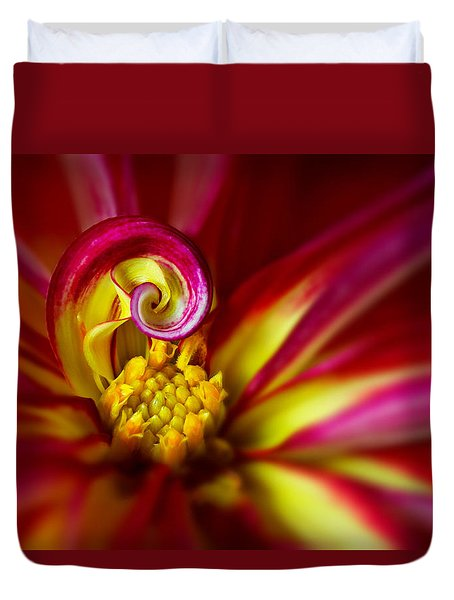Spiral Duvet Cover by Mary Jo Allen