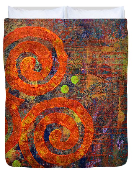 Spiral Series - Railing Duvet Cover by Moon Stumpp