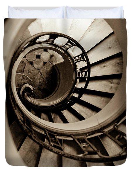 Spiral Staircase Duvet Cover by Sebastian Musial