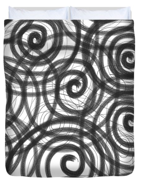 Spirals Of Love Duvet Cover by Daina White