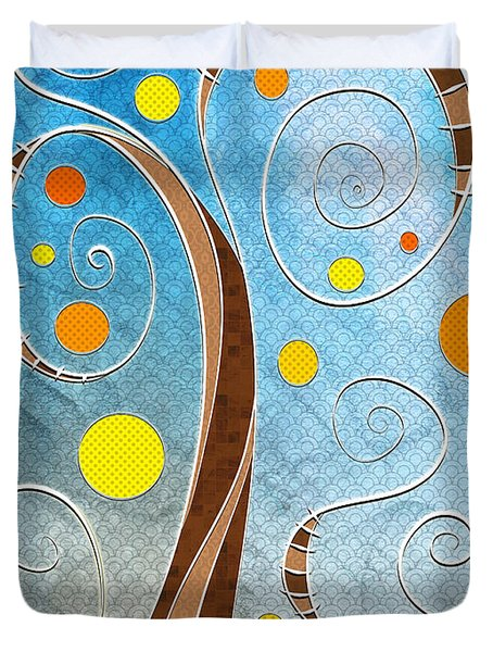 Spiralscape Duvet Cover by Shawna  Rowe