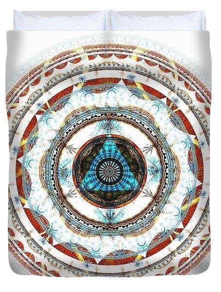 Spirit Circle Duvet Cover by Anastasiya Malakhova