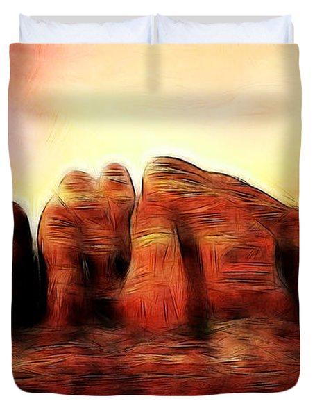 Spirit Mountain Duvet Cover by Ellen Heaverlo