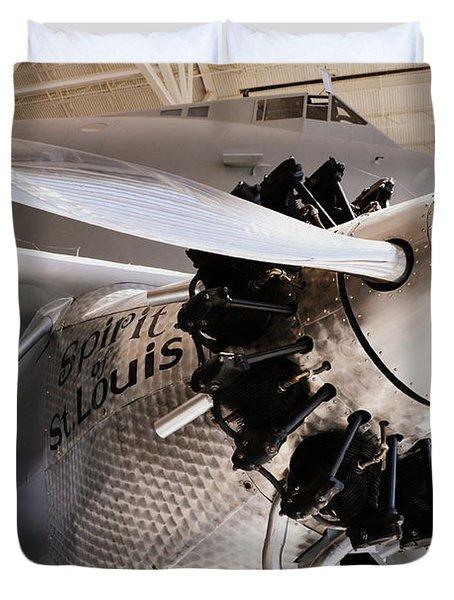 Spirit Of St. Louis Duvet Cover by Michelle Calkins