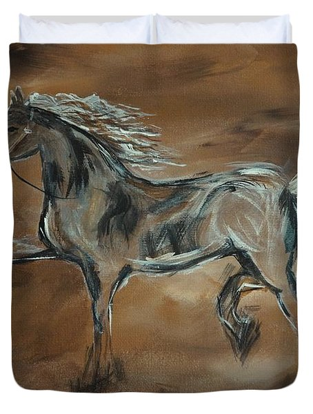 Spirited Duvet Cover by Leslie Allen