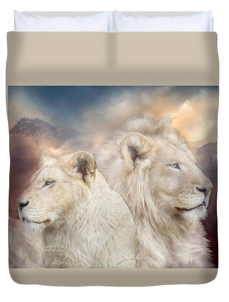 Spirits Of Light Duvet Cover by Carol Cavalaris