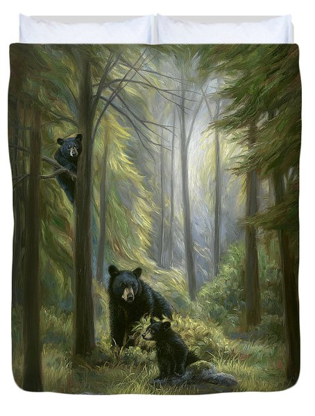 Spirits Of The Forest Duvet Cover by Lucie Bilodeau