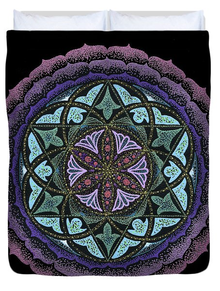 Spiritual Heart Duvet Cover by Keiko Katsuta