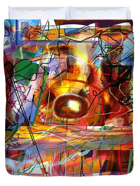 Spiritual Understanding 3 Duvet Cover by David Baruch Wolk