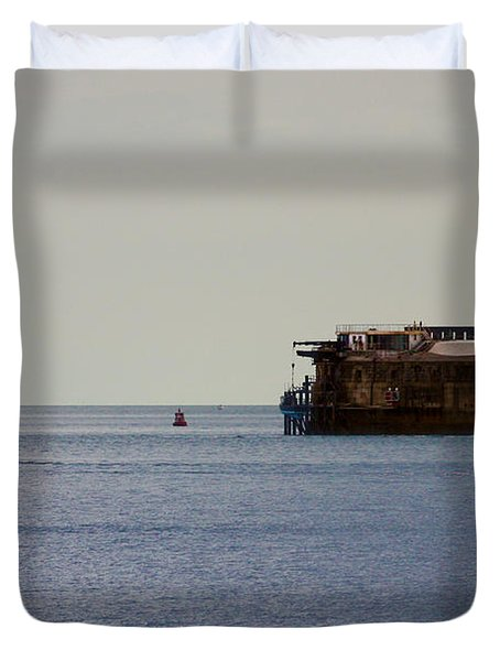 Spitbank Fort Martello Tower Duvet Cover by Terri Waters
