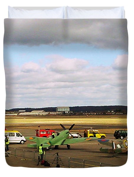 Spitfire's Galore Duvet Cover by Terri Waters
