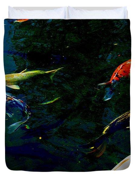 Splash Of Color Duvet Cover by Greg Patzer