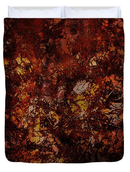 Splattered  Duvet Cover by James Barnes