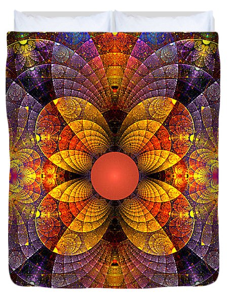 Split Crops Fractal Duvet Cover by Peggi Wolfe