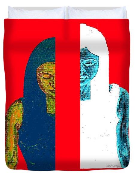Split Personality Duvet Cover by Patrick J Murphy