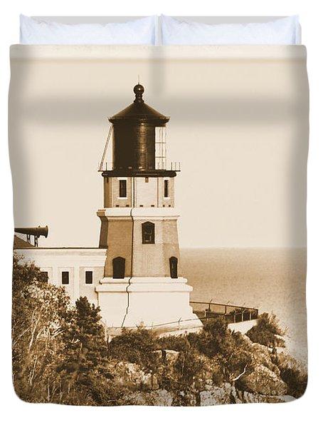 Split Rock Lighthouse Duvet Cover by Kristin Elmquist