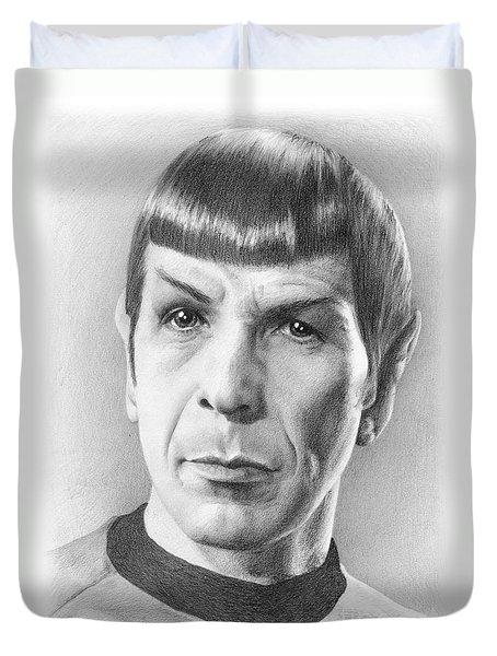 Spock - Fascinating Duvet Cover by Liz Molnar