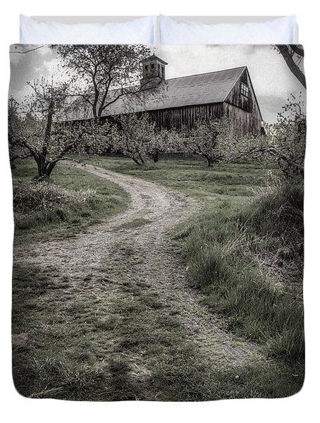 Spooky Apple Orchard Duvet Cover by Edward Fielding