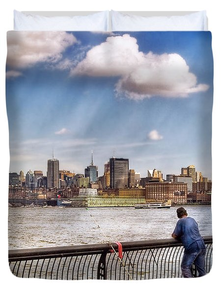 Sport - Fishing Duvet Cover by Mike Savad