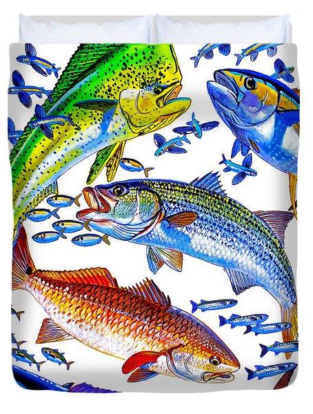 Sportfish Collage Duvet Cover by Carey Chen