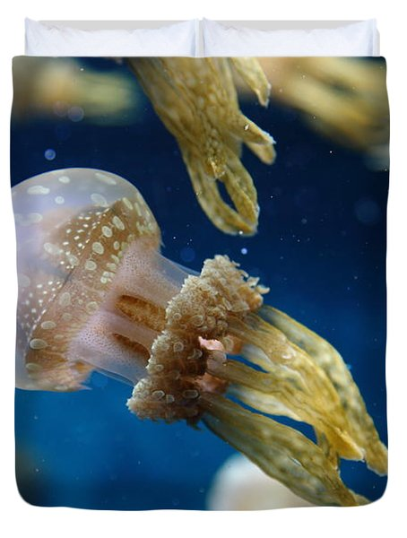 Spotted Jelly Fish 5d24955 Duvet Cover by Wingsdomain Art and Photography