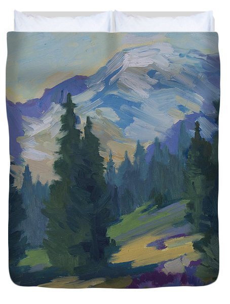 Spring At Mount Rainier Duvet Cover by Diane McClary
