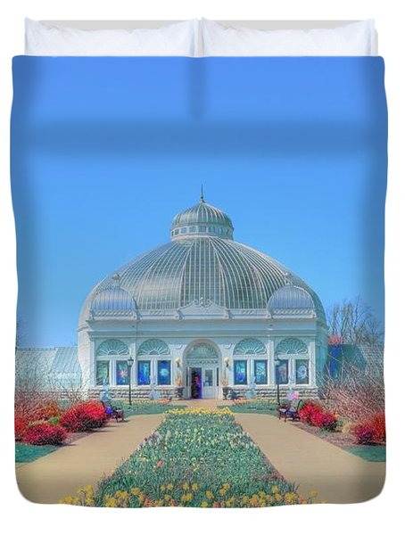 Spring At The Gardens Duvet Cover by Kathleen Struckle