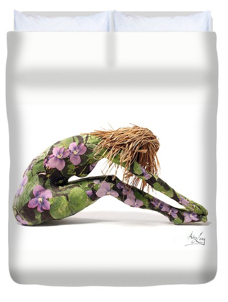Spring Awakens Sculpture Duvet Cover by Adam Long