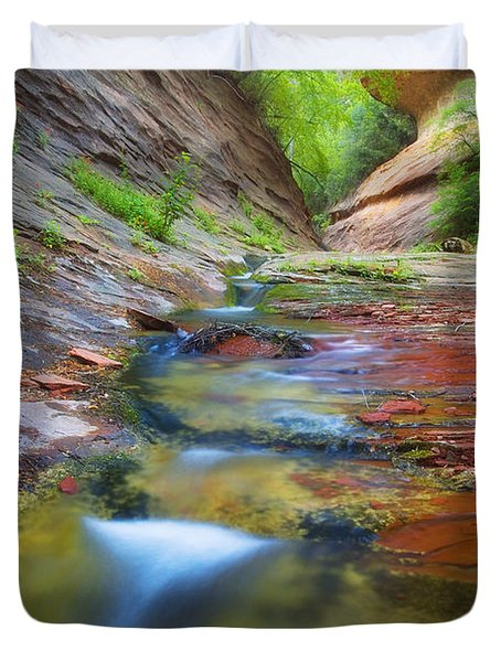 Spring Cascades Duvet Cover by Peter Coskun
