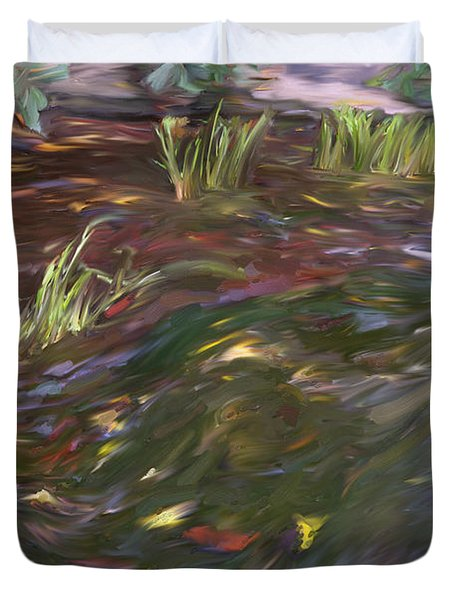 Spring Creek In Oak Canyon Park Duvet Cover by Angela A Stanton