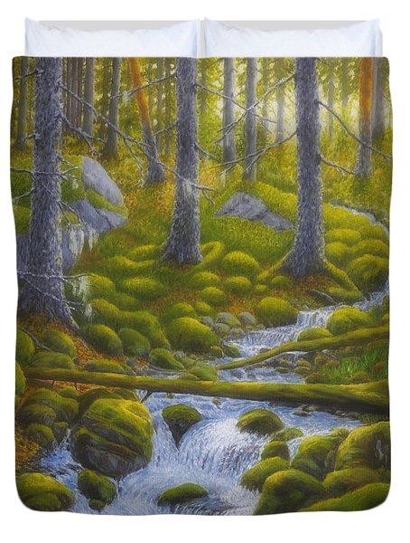 Spring Creek Duvet Cover by Veikko Suikkanen