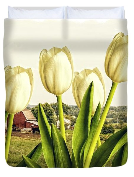Spring Down On The Farm Duvet Cover by Edward Fielding