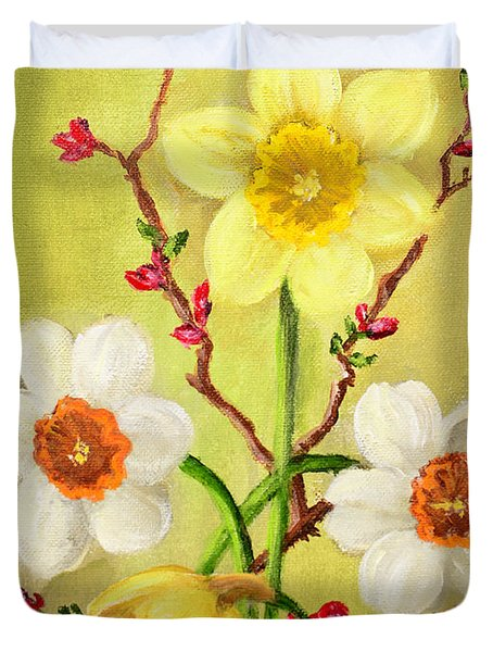 Spring Flowers 2 Duvet Cover by Randy Burns