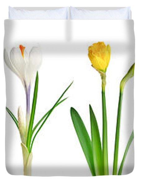 Spring flowers  Duvet Cover by Elena Elisseeva