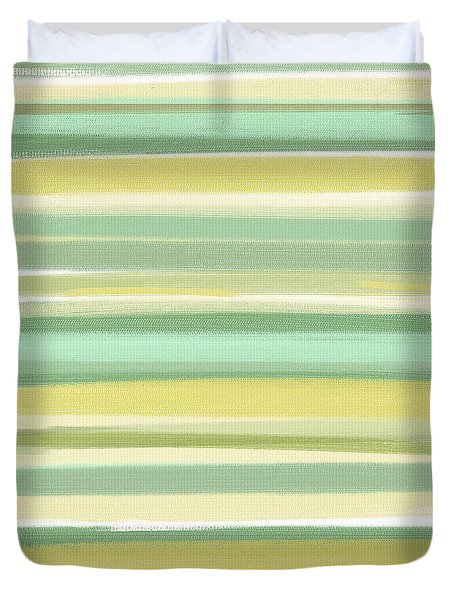 Spring Green Duvet Cover by Lourry Legarde