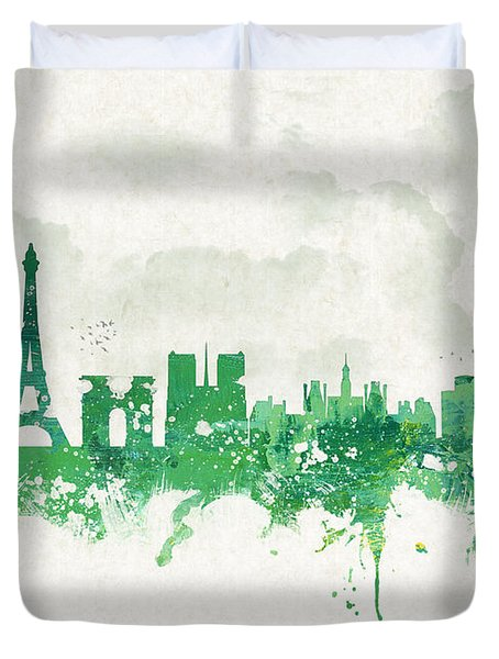 Spring In Paris France Duvet Cover by Aged Pixel
