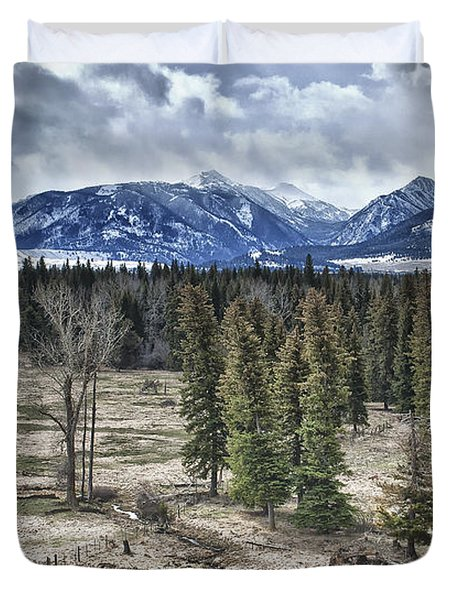 Spring in the Wallowas Duvet Cover by Adele Buttolph
